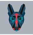 Red and green low poly dog vector image vector image