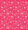 red web hearts seamless repeat pattern vector image vector image
