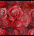 rose seamless pattern floran background vector image vector image