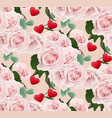 roses pattern background valentines day romantic vector image vector image