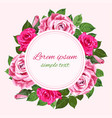rred and pink roses wreath on the white copy vector image vector image