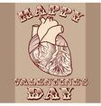 Sarcastic Valentine card with anatomic heart vector image vector image