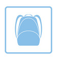 school rucksack icon vector image