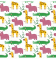 seamless cartoon pattern with african vector image vector image