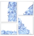 set four banners headers with blue blots vector image vector image
