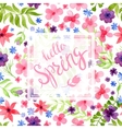 Spring Blurred Background whith Lettering and vector image vector image