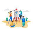 startup teamwork process concept scene vector image