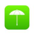 sun umbrella icon digital green vector image