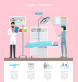 surgery treatment service vector image vector image