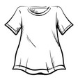t-shirt drawing on white background vector image vector image