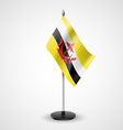 Table flag of Brunei vector image vector image