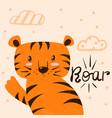 tiger roar cartoon characters vector image
