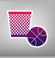 trash sign purple gradient vector image vector image