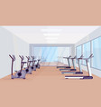 treadmills and stationary bicycles modern vector image vector image