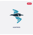 two color albatross icon from animals concept vector image vector image