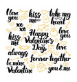 valentine day hand drawn lettering vector image vector image