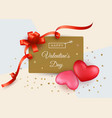 valentines day sale background with two red and vector image vector image