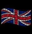 waving great britain flag pattern of handshake vector image