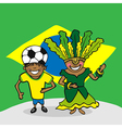 Welcome to Brazil people vector image