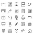 workspace line icons on white background vector image vector image