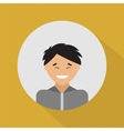 Young asian man Flat design vector image