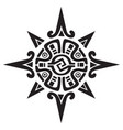 mayan or incan symbol of a sun or star vector image