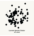 Splatter Black Ink Dot Background vector image