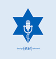 Star with microphone Abstract design element vector image