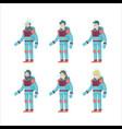 colorful flat astronauts set vector image