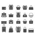 shopping icons set bag icons vector image