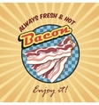 Bacon retro poster vector image