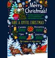 christmas holidays new year greeting sketch vector image