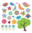 Colorful Spring Set vector image