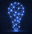 abstract polygonal lamp with glowing dots and line vector image
