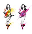 Artistic Fashion Sketch vector image vector image
