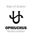 astrology sign of zodiac ophiuchus the vector image vector image