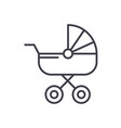 baby carriage line icon sign vector image vector image
