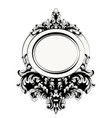baroque mirror frame french luxury rich intricate vector image vector image