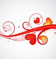beautiful heart design vector image vector image