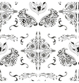 Black and white damask pattern vector image vector image