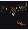 Black background with boho garland