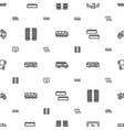 bus icons pattern seamless white background vector image vector image