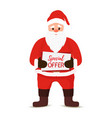 cartoon santa claus bag sack of gifts vector image
