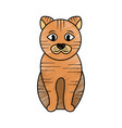 cat sitting pet animal domestic vector image