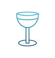 chalice isolated symbol vector image
