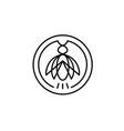 cicada insect pest circle line logo design vector image