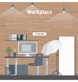 Collection stylish colors business work flow items vector image