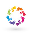 color wheel of the numbered arrows vector image vector image