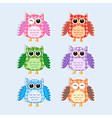 Colorful owls vector | Price: 1 Credit (USD $1)