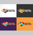 creative digital colorful logo collection vector image vector image